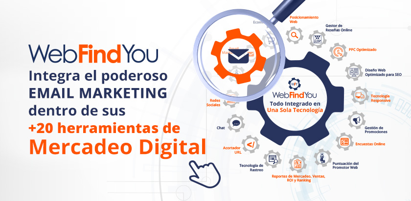 WebFindYou Integra un Poderoso Email Marketing dentro de sus Herramientas de Mercadeo Digital