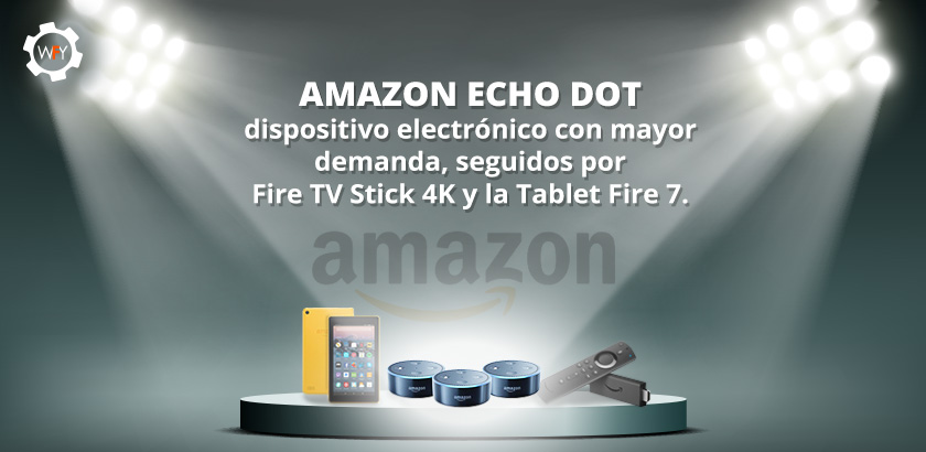 Amazon Echo Dot Dispositivo Electrónico con Mayor Demanda